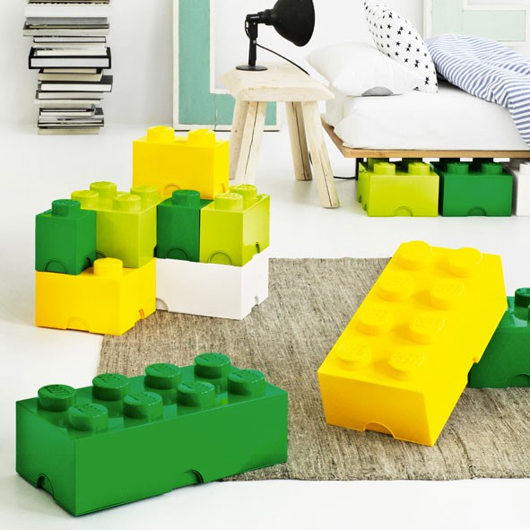 boite de rangement lego 8 plots vert mylittleroom. Black Bedroom Furniture Sets. Home Design Ideas