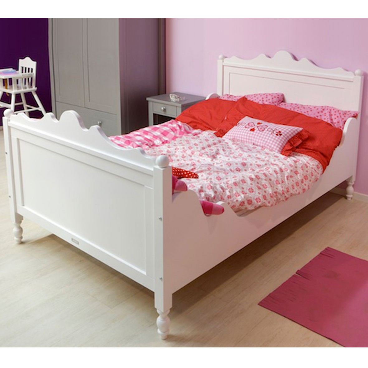 lit double belle 120 x 200 cm bopita mylittleroom. Black Bedroom Furniture Sets. Home Design Ideas