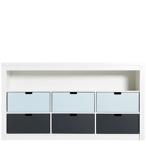Commode Triple 7 compartiments Mix & Match - Blanc Blanc Bopita