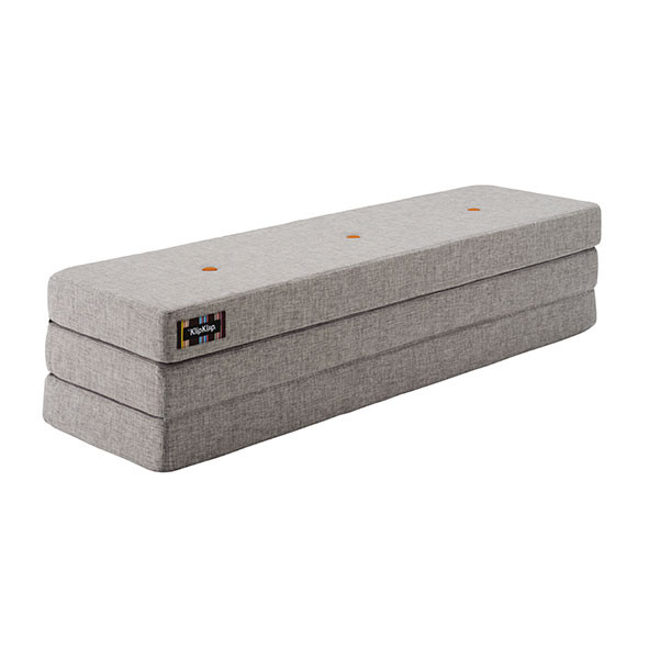 Matelas Pliable 3F - Gris Clair / Orange Gris by KlipKlap