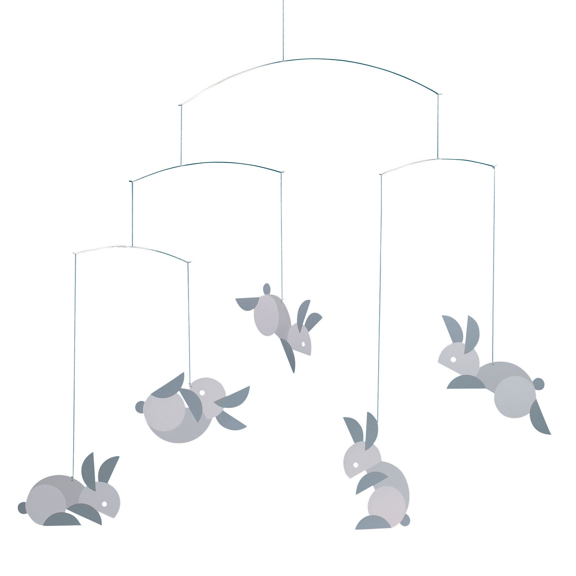 Mobile Lapins Gris Flensted