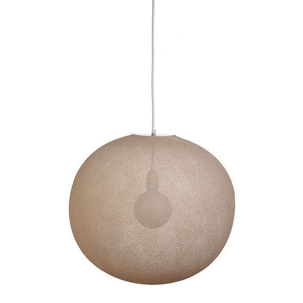 Suspension Globe Light - XL - Sahara Beige La Case de Cousin Paul