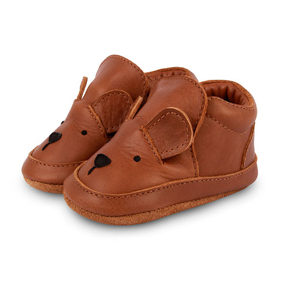 Chaussons Arty - Ours Marron / Taupe Donsje Amsterdam