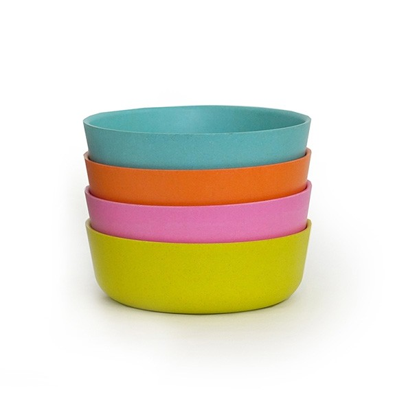 Set de 4 bols - Bleu Lagon Multicolore Ekobo