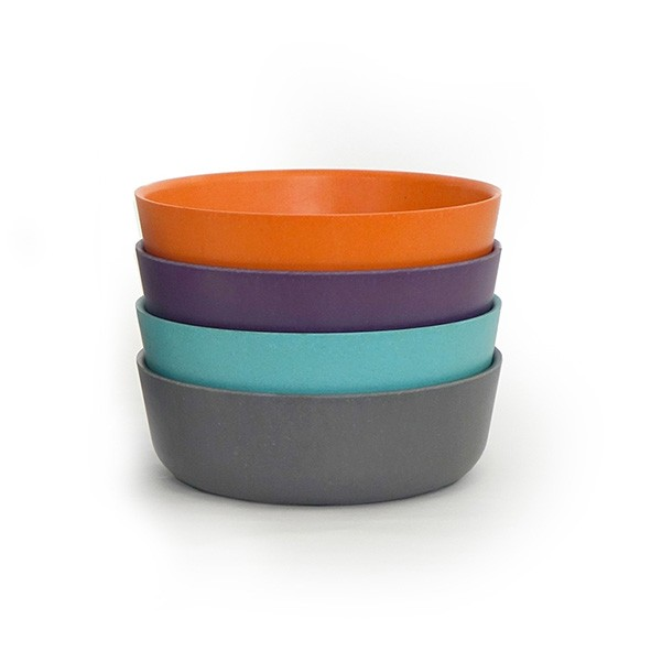 Set de 4 bols - Prune Multicolore Ekobo