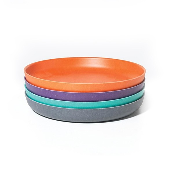 Set de 4 petites assiettes - Prune Multicolore Ekobo