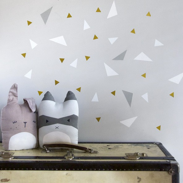 Sticker Playful Triangles by Chispum Gris Fabelab
