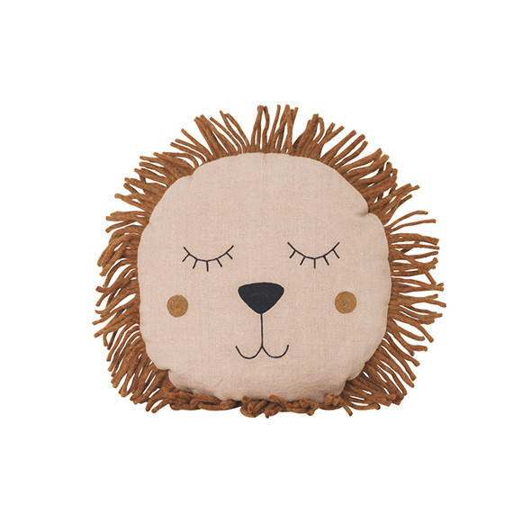 Coussin Lion Safari - Rose Rose Ferm Living Kids
