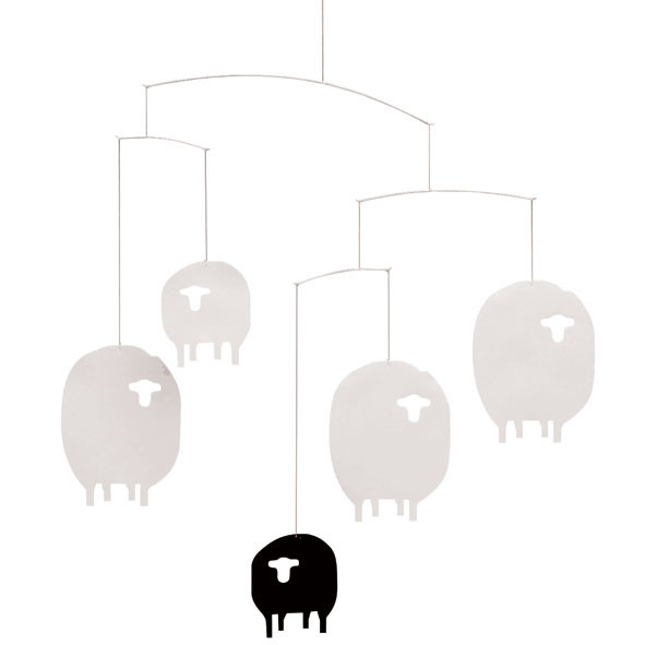 Mobile Moutons - EXPO Blanc Flensted