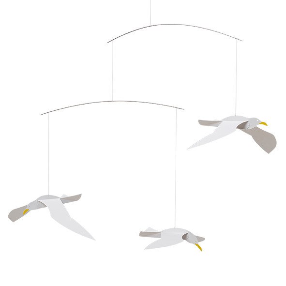 Mobile Mouettes Blanc Flensted