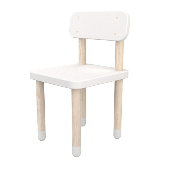 Petite chaise PLAY - Blanc Blanc Flexa