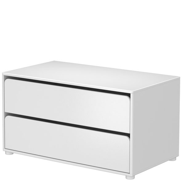Commode 2 tiroirs CABBY Blanc Flexa
