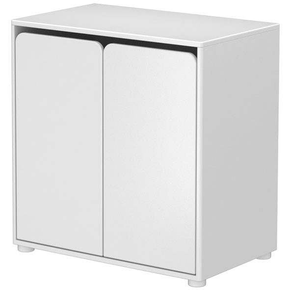 Commode 2 portes CABBY Blanc Flexa
