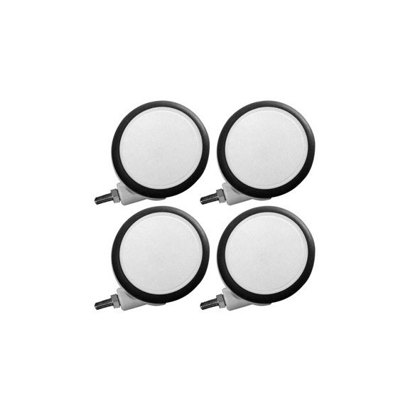 Roulettes CABBY - Set de 4 Gris Flexa