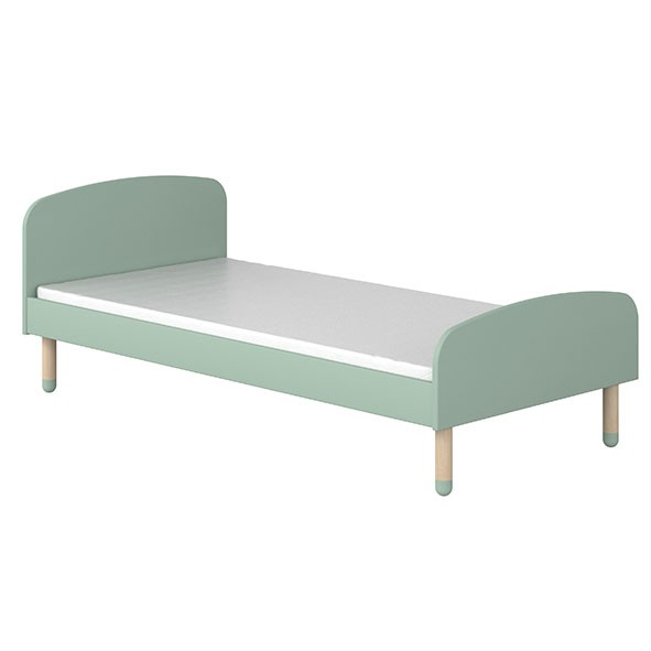 Lit simple PLAY 90 x 200 - Vert menthe Vert Flexa