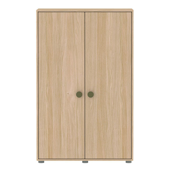 Armoire basse 2 portes Popsicle - Kiwi Naturel Flexa