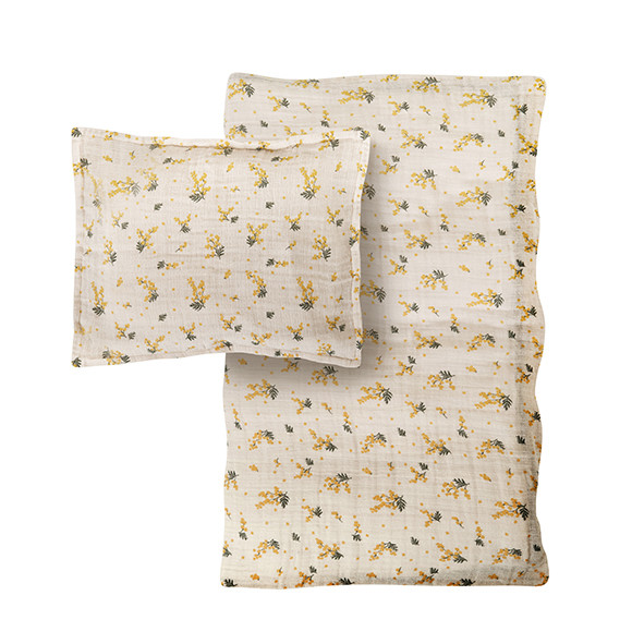 Parure de lit Gaze de Coton 140 x 200 - Mimosa Beige Garbo and Friends