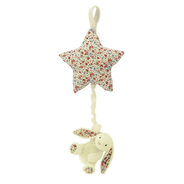 Mobile Musical Lapin Bashful Blossom Blanc Jellycat