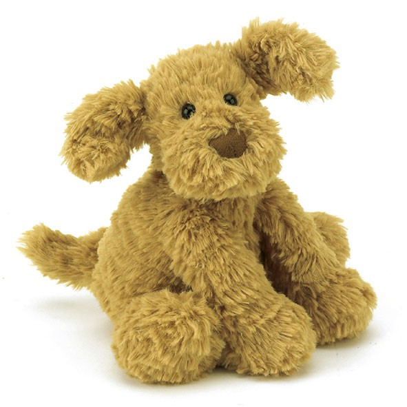 Peluche Petit Chien Fuddlewuddle (23 cm) Marron / Taupe Jellycat