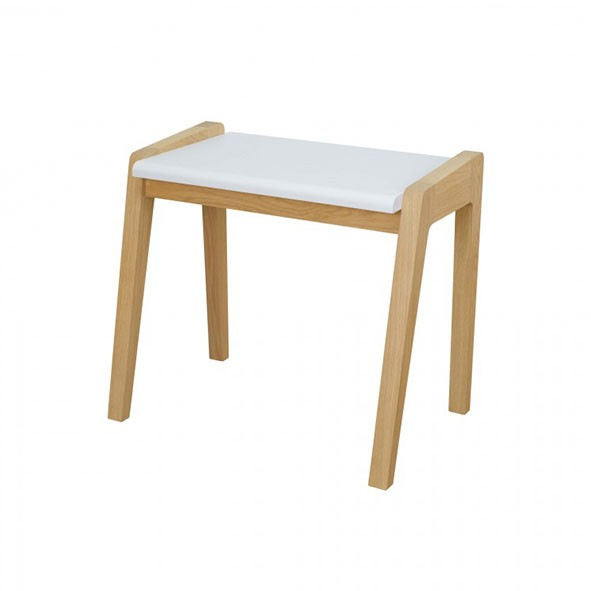 Tabouret My Great Pupitre - Blanc Blanc Jungle by Jungle
