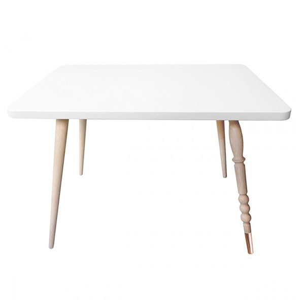 Table rectangulaire My Lovely Ballerine - Hêtre / Cuivre - Blanc Blanc Jungle by Jungle