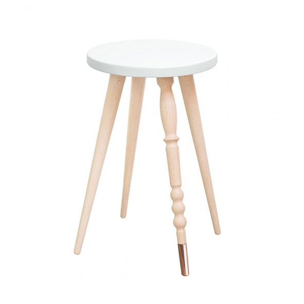 Tabouret 47 cm My Lovely Ballerine - Hêtre / Cuivre - Blanc Blanc Jungle by Jungle
