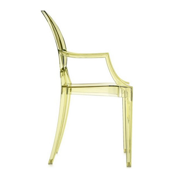 Chaise Louis Ghost Paille - EXPO Jaune Kartell