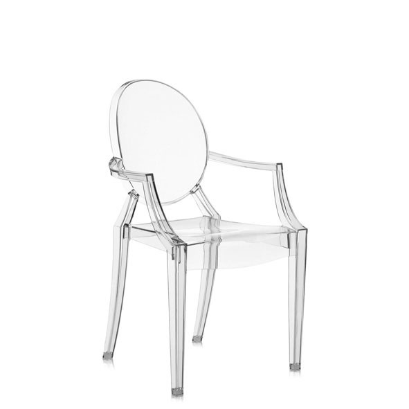 Chaise Lou Lou Ghost Cristal Blanc Kartell