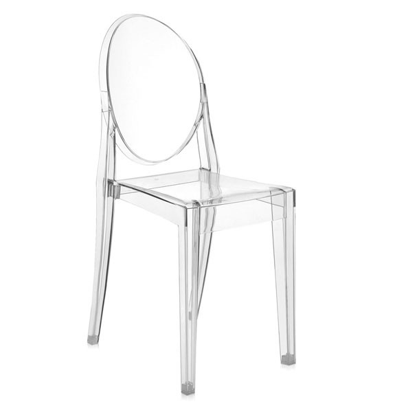 Chaise Victoria Ghost Cristal Blanc Kartell