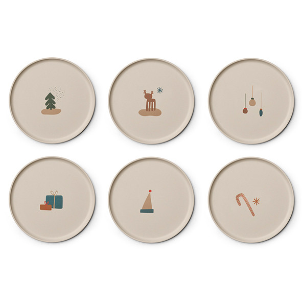 Set de 6 assiettes bambou - Holiday Multicolore Liewood