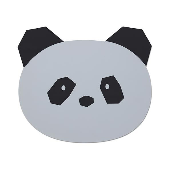 Set de table silicone Panda - Gris Gris Liewood