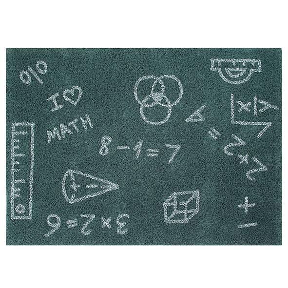 Tapis Back to School 140 x 200 cm - I Love Math Vert Lorena Canals