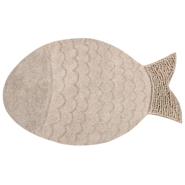 Tapis The Sea 110 x 180 cm - Poisson Géant Beige Lorena Canals