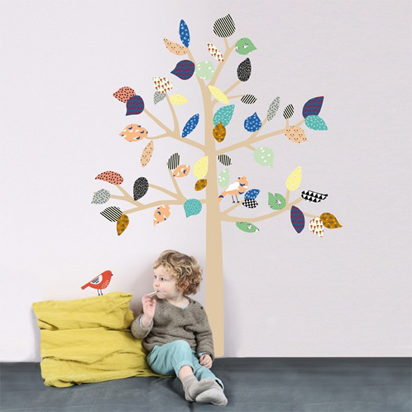 Sticker - Big Tree - L Multicolore MIMI'lou
