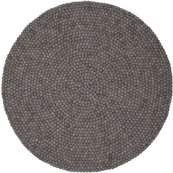 Tapis rond 120 cm Carl Marron / Taupe MyFelt