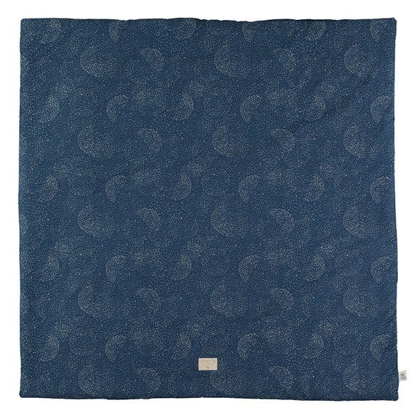 Tapis carré Colorado Bubble - Elements - Bleu nuit / Or  Bleu Nobodinoz