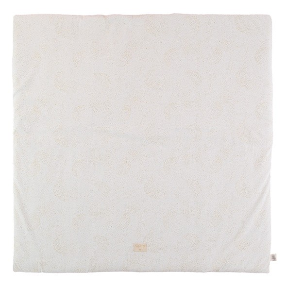 Tapis carré Colorado Bubble - Elements - Blanc / Or  Blanc Nobodinoz