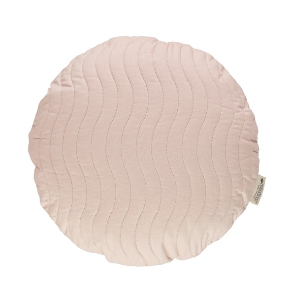 Coussin Rond Sitges 45 cm Pure Line - Rose Pale Rose Nobodinoz