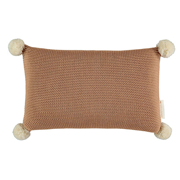 Coussin en tricot So Natural - Biscuit Marron / Taupe Nobodinoz