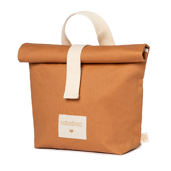 Sac à goûter Eco - Cannelle Orange Nobodinoz