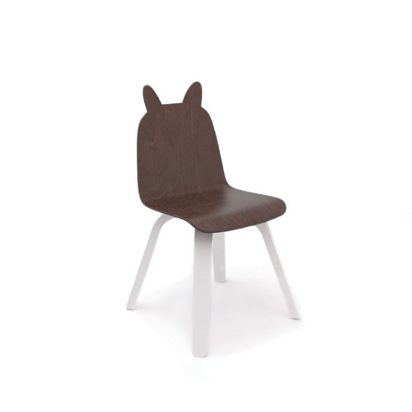 Chaises Play Lapin - Noyer - Lot de 2 Blanc Oeuf NYC