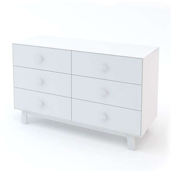 Commode 6 tiroirs Merlin - Blanc Blanc Oeuf NYC