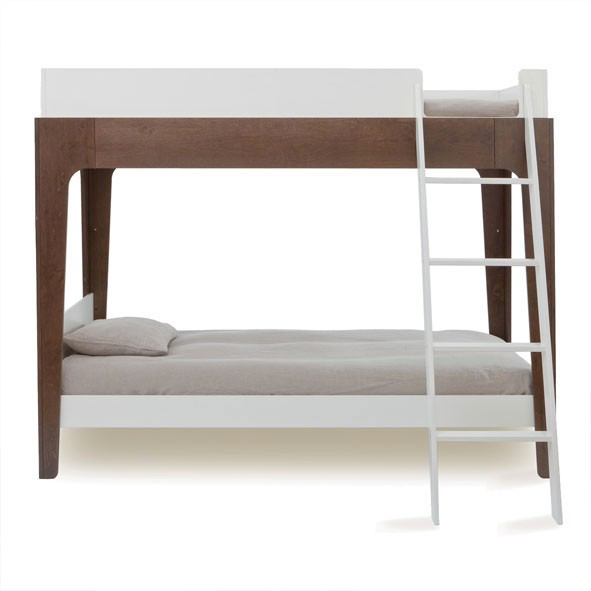 Lit superposé Perch - Noyer Marron / Taupe Oeuf NYC