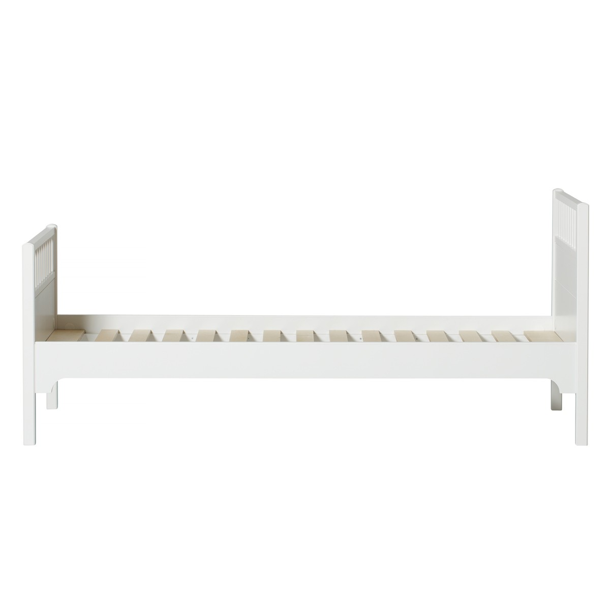 Lit Seaside 90 x 200 cm Blanc Oliver Furniture