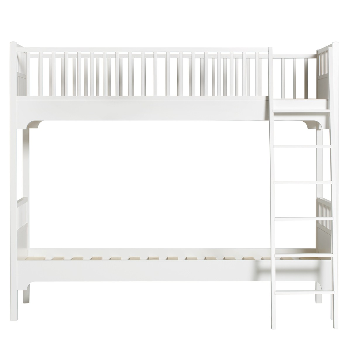 Lit superposé Seaside - Echelle inclinée Blanc Oliver Furniture