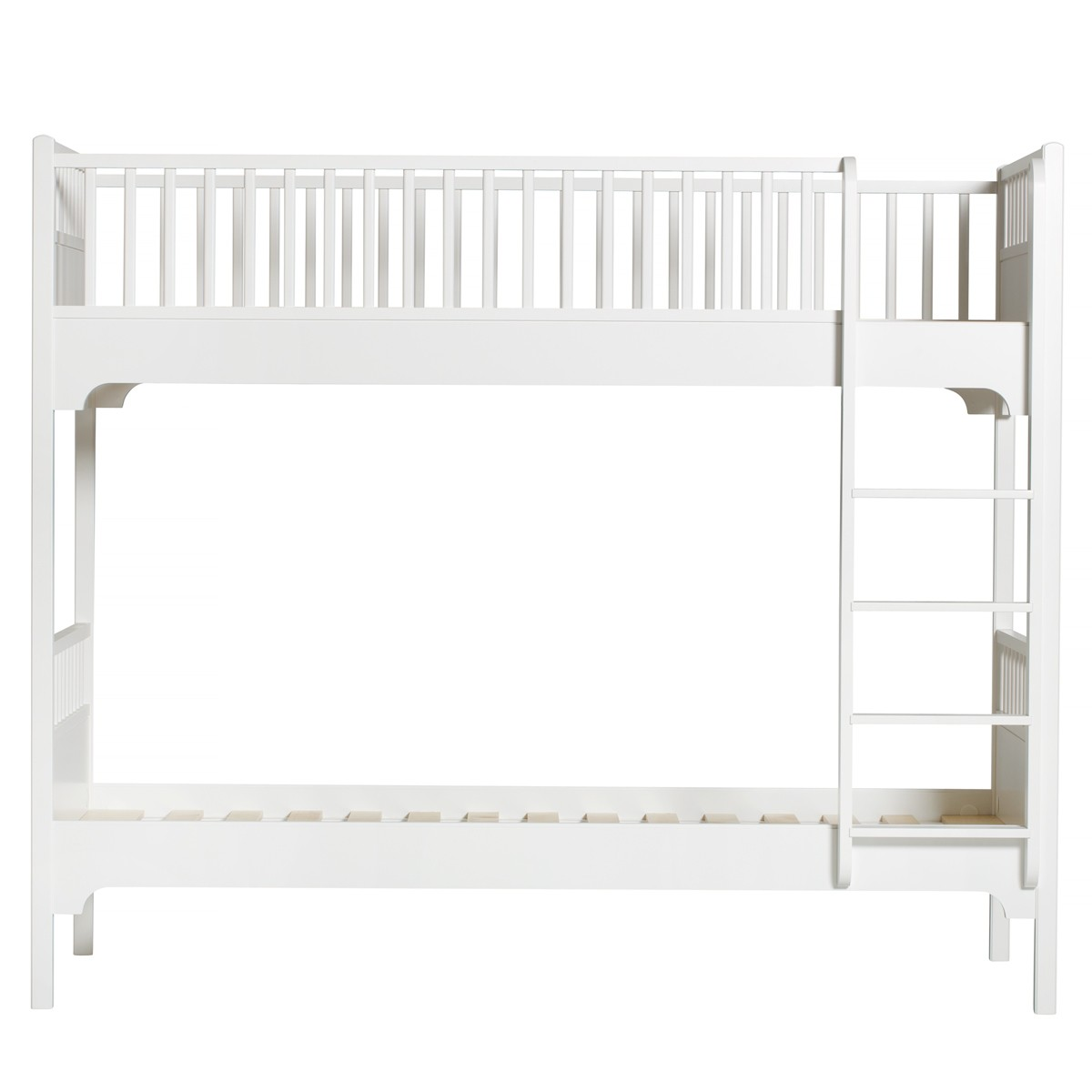 Lit superposé Seaside - Echelle droite Blanc Oliver Furniture