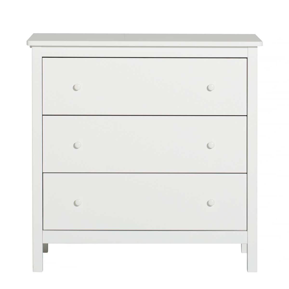 Commode Seaside avec portant coulissant Blanc Oliver Furniture