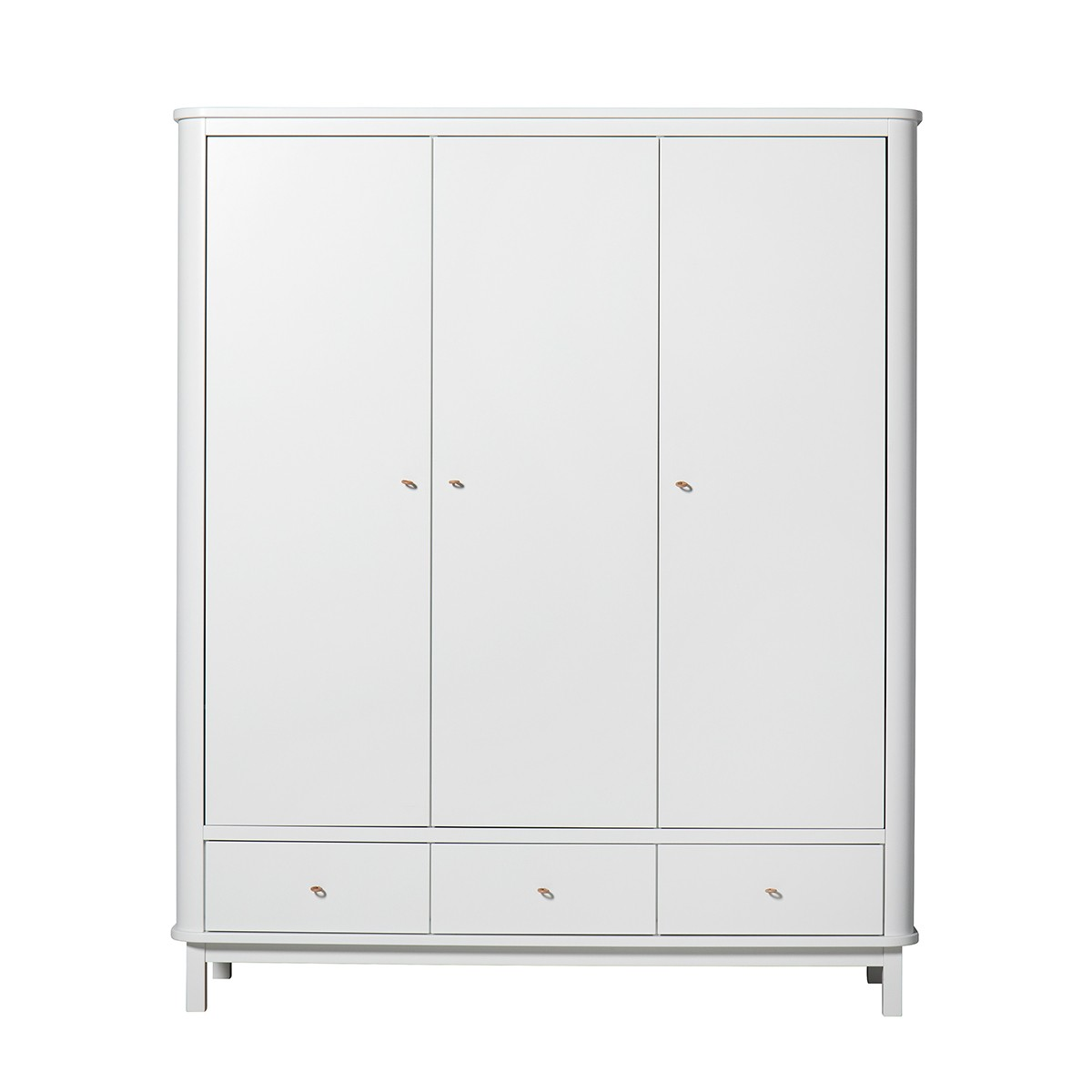 Armoire 3 portes Wood - Blanc Blanc Oliver Furniture