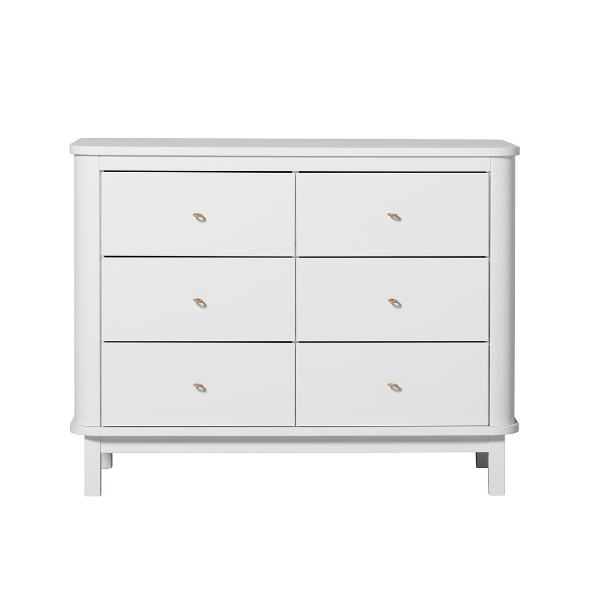 Commode 6 tiroirs Wood - Blanc Blanc Oliver Furniture