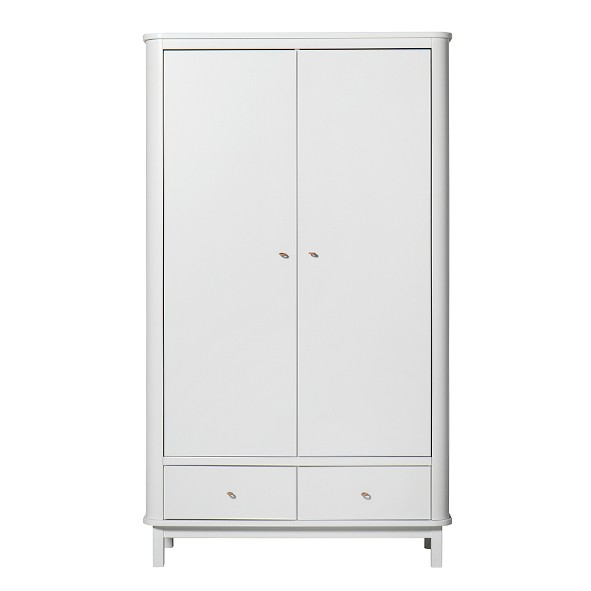 Armoire 2 portes Wood - Blanc Blanc Oliver Furniture